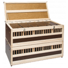 Taubenkorb 12 fächig aus Holz